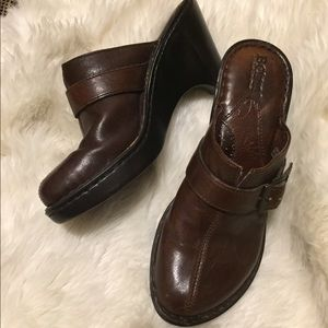 Born dark brown clogs size 7/38